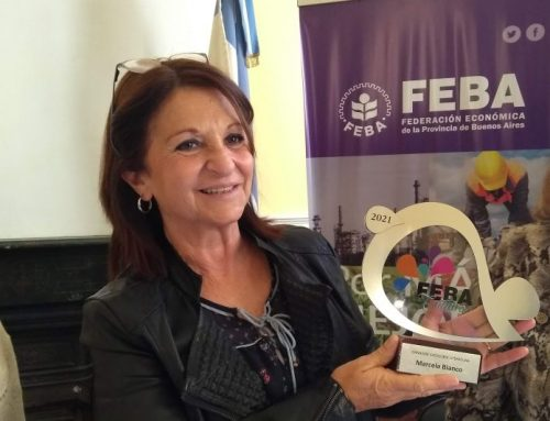 Marcela Bianco recibió su premio de FEBA Cultura